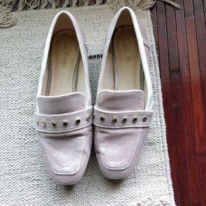 Nine West Xiamara Blush Velvet Slip-On Loafers 7.5